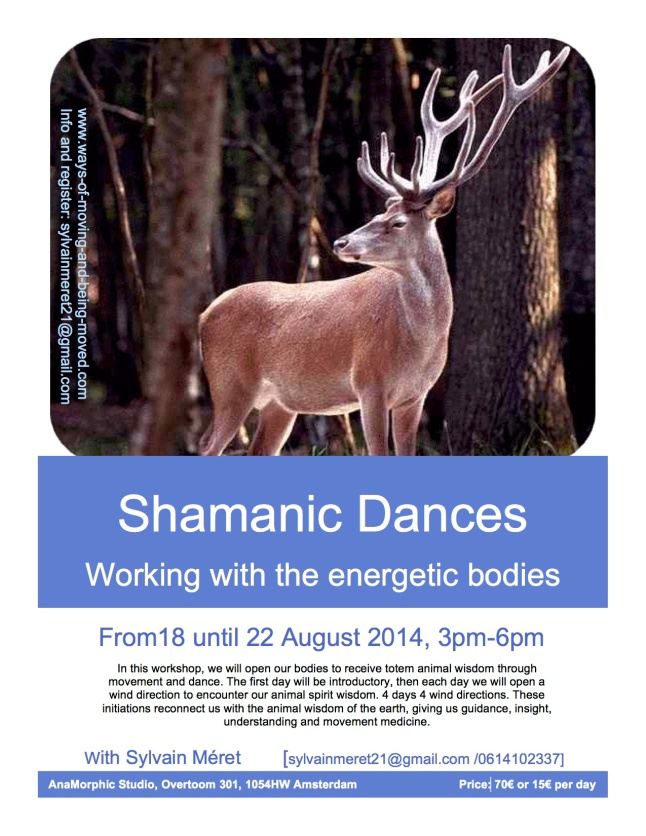flyer shamanic dance 2014