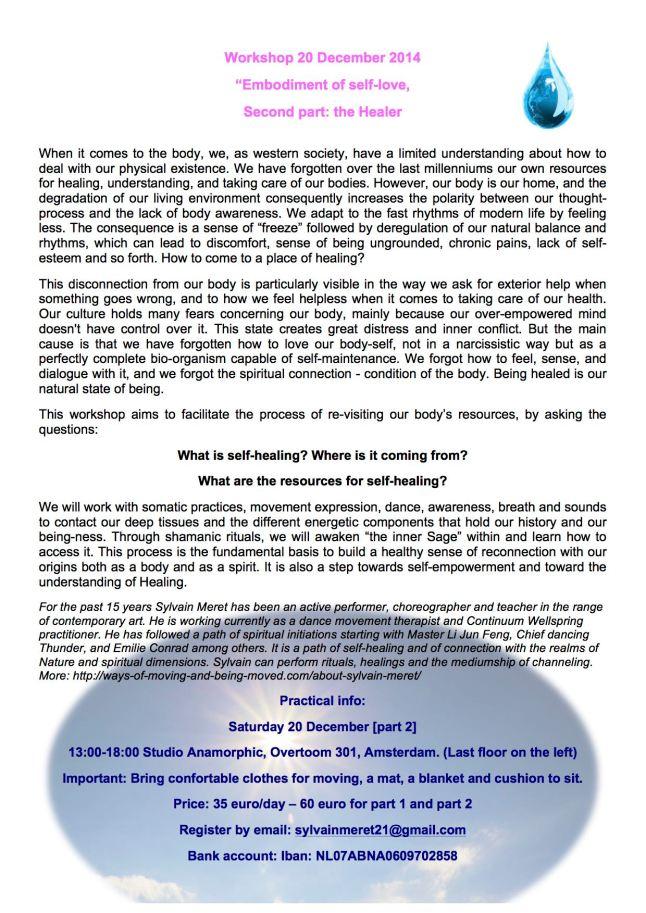 Workshop embodiment of self love 2